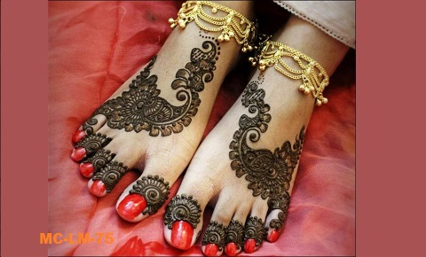 Mehndi On Leg : Mehandi creations bring your thought into reality